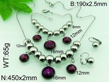 thailand silver plated tassel ruby necklace jewelry