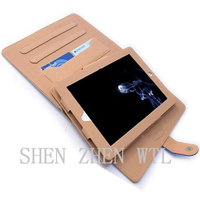 new model leather case with card holder for ipad air 2