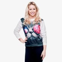 women hot galaxy cat 3d sweatshirts digital print fullprint crewneck sweatshirt spring autumn unisex custom oversized pullover