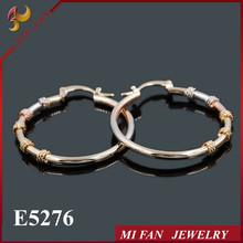 Guangzhou jewelry market Fashion hoop earrings jewellery 18K Gold Earrings