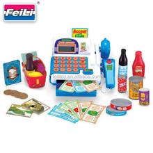 kids educational products eletronic super market cash machine set toy cash register