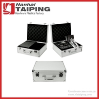 Silver Aluminum Tattoo Kit Case Tool Case Traveling Convention Carry Case