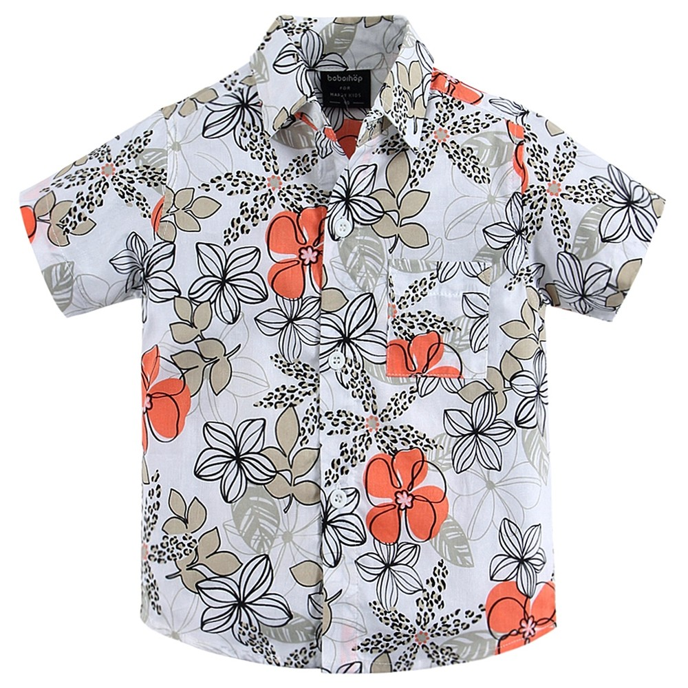 2017 Boys Summer Clothes New Arrival Fashion Aloha Shirt Hawaiian