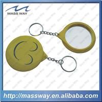 printing round shape funny custom mirrour tin keychain