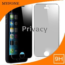 9H Hardness Privacy otao Tempered Glass Screen protector for mobile iPhone 5/5s/ 5c