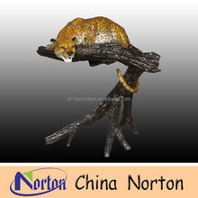 Bronze animal statue--Bronze Jaguar Decoration Statues NTBA-C044C