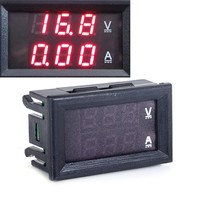 DC 0-100V 10A Dual Red LED Digital Voltmeter and Ammeter Multimeters from China TK1381