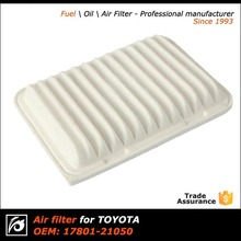High performance air filter/filter air for Toyota OEM 17801-21050