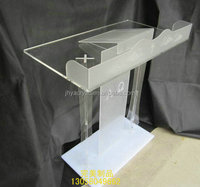 2015 hot sale Clear Acrylic Tabletop Lectern/Podium