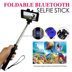 2016 BEST GIFT cell phone accessories colorful wireless monopod bluetooth foldable selfie stick