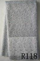 AAA grade high quality white big embroidery dry lace fabric 2015 fashion french dry lace