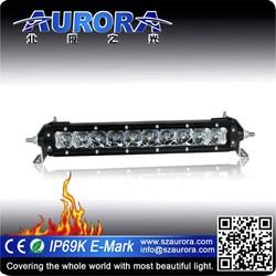 great reputation high lumen Aurora single 10'' off road 4x4 parts wholesale
