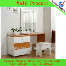 2013 Hot sale dressing table black dresser with mirror