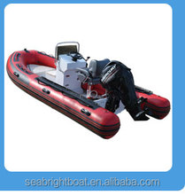 PVC or Hypalon rib inflatable boat for sale /aluminum rigid hull inflatable center console boat