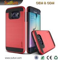 tpu bumper pc phone case for Samsung galaxy s4 s5 s6 s6 edge slim armor mobile phone case for Samsung note 3 4 5