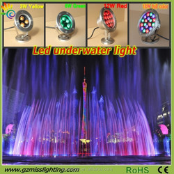 High Power Waterproof 3W yellow LED Underwater Lights for sale