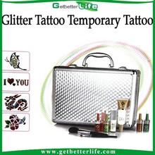 2015 getbetterlife Creative body art Diamond glitter temporary tattoo kits/sets