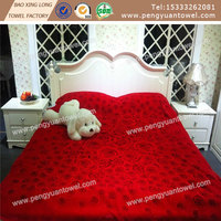 light weight floral 100% polyester blanket