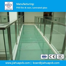Glass floors and stairs laminated with PVB film