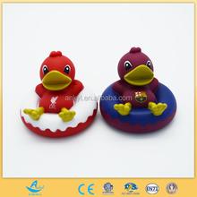 custom made plastic soft pvc bath toy yellow duck plastic duck bath toy