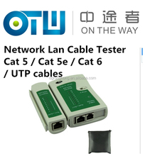 Factory Selling Novel designs Network Lan Cable Tester Cat 5 / Cat 5e / Cat 6 / UTP cables with RJ-11 & RJ-45