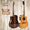 high quality solid wooden acosutic guitar ebony material