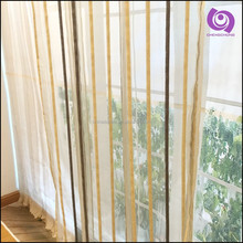 Wholesale Fancy Chenille Stripe Jacquard Fabric Curtain