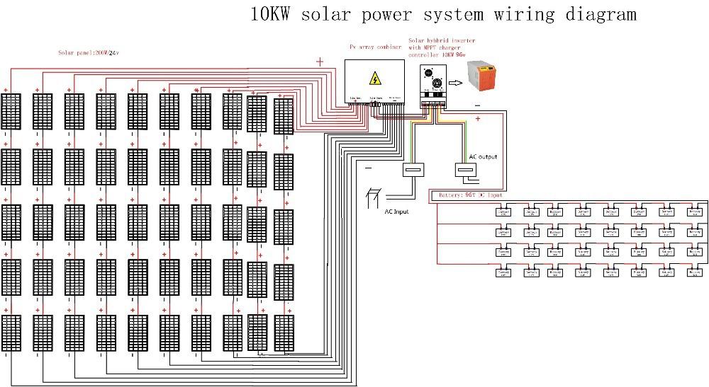 6000w 10000w Complete Off Grid Solar Power  6 Kw Solar