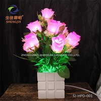 lounge decoration Modern cheap flower lighting for christmas