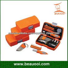 25pzs pequeñas cajas de herramientas de plástico con kits de herramientas