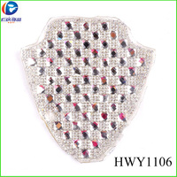 High Quality Gold/silver/nickle 3mm Rhinestone Mesh