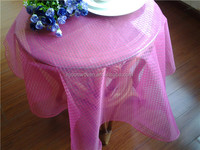 colorful plaid organza roll table runner table skirt