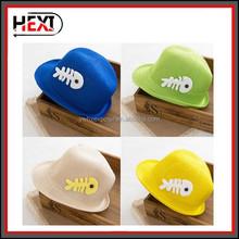 Custom Made Flat Wide Brim Fedora Felt Hats for kid children