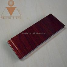 Shanghai MinJian 6000 series construction extruded wooden grained aluminum