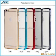 Alibaba express facotry price plating pc phone case for iPhone 6