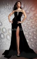реальный Топ моды-платье молния сексуальная бусины блестки Люкс Свадебные Платья бальное платье нестандартного размера