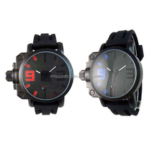Shark Stainless Steel Back Big Face Cool Watches For Men Silicone Strap Outdoor Tag Sport Wristwatch
