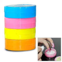 Hot Sale 6 PCS/LOT Mini Pocket Nail Polish Remover Degreaser Nail Art Women Nails Cleaning Wipes Pads Towels Remover Tool