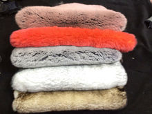 Real colorful Chinchilla Rex Rabbit fur, bicolor rabbit skin sale for coat, garment, in wenzhou, Mengba,