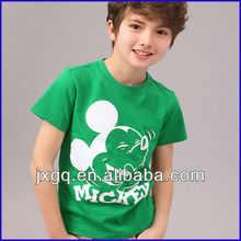 2014 fashion style summer hot selling kid slim fit blank t-shirt design mickey mouse printing t-shirt