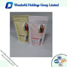 stand up zipper bags / zipper plastic closed pouchs / zip top stand up bags
