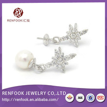 Factory RenFook wedding screw back stud earrings CE for sale
