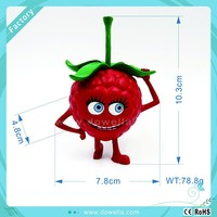 Plastic PVC strawberry fruit figurines toys, Cheap for Wholesale plastic strawberry in Disney audit factory.