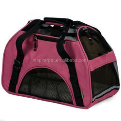 Comfort Carrier Pet Carrier Small Rose Soft Washable Fleece Bed