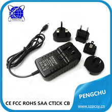 12V 2A AU US UK EU plug ac power adapter charger