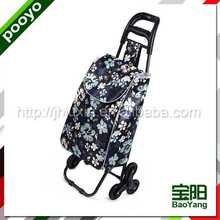 metal shopping cart folding cooler box wine carrier picnic lunch box