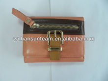 the newest design woman wallet with metal 2014