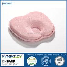 High quality velvet cover baby spine care memory foam pillow/infant health protect memory foam pillow