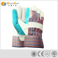 """10.5"""" safety reinforced palm leather work gloves"""