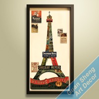 3D handmade famous Paris Eiffel Tower paper craft